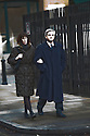 """""""Caught in the headlights""""   -  Chris Huhne and Carina Trimmingham, his partner,  arrive at Southwark Crown Court today 4.2.13..Glare of media flashes lights up the embattled couple as they arrive...She and her former husband MP Chris Huhne are charged with perverting the course of justice....Vasiliki Pryce, née Courmouzis, is an economist, and former Joint Head of the United Kingdom's Government Economic Service......Pic by Gavin Rodgers/Pixel 8000 Ltd"""