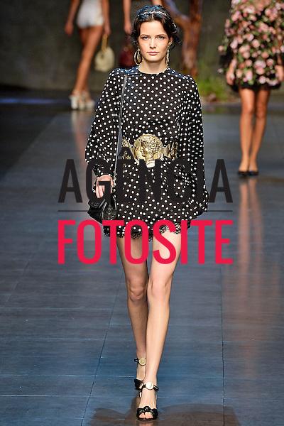 Milao, Italia&sbquo; 22/09/2013 - Desfile de Dolce &amp; Gabbana durante a Semana de moda de Milao  -  Verao 2014. <br /> Foto: FOTOSITE