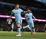 Samir Nasri of Manchester City celebrates scoring the second goal - Barclays Premier League - Manchester City vs Newcastle Utd - Etihad Stadium - Manchester - England - 21st February 2015 - Picture Simon Bellis/Sportimage