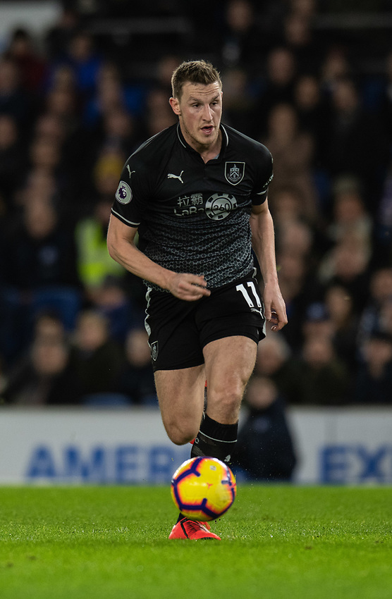 Burnley's Chris Wood <br /> <br /> Photographer David Horton/CameraSport<br /> <br /> The Premier League - Brighton and Hove Albion v Burnley - Saturday 9th February 2019 - The Amex Stadium - Brighton<br /> <br /> World Copyright © 2019 CameraSport. All rights reserved. 43 Linden Ave. Countesthorpe. Leicester. England. LE8 5PG - Tel: +44 (0) 116 277 4147 - admin@camerasport.com - www.camerasport.com