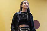 The pop singer and dancer, Lola índigo, during the Spanish Urban Music Event organized by Spotify on September 25, 2019 in Madrid, Spain.(ALTERPHOTOS/ItahisaHernandez)
