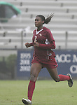 Florida State's India Trotter on Sunday, October 22nd, 2006 at Koskinen Stadium in Durham, North Carolina. The Duke Blue Devils defeated the Florida State University Seminoles 3-1 in an Atlantic Coast Conference NCAA Division I Women's Soccer game.