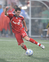 Jim Brennan (11) in action at  BMO Field on Saturday September 13, 2008. .The game ended in a 1-1 draw.