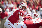 Wisconsin Badgers quarterback Alex Hornibrook (12) lines up under center during an NCAA College Football game against the Florida Atlantic Owls Saturday, September 9, 2017, in Madison, Wis. The Badgers won 31-14. (Photo by David Stluka)
