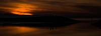 Sunset on San Francisco Bay.  (Enhanced image)