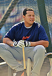 29 September 2012: Detroit Tigers third baseman Miguel Cabrera awaits his turn in the batting cage prior to a game against the Minnesota Twins at Target Field in Minneapolis, MN. The Tigers defeated the Twins 6-4 in the second game of their 3-game series. Mandatory Credit: Ed Wolfstein Photo