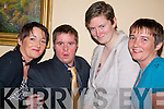 Enjoying the Nano Nagle social in the Listowel Arms Hotel on Friday night were Marian sayers, Michael McElligott, Joanne Halpin and Liz Kelly...   Copyright Kerry's Eye 2008