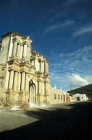 The ruins of El Carmen church in the Spanish colonial town of Antigua, Guatemala