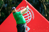 Shane Lowry (IRL) on the 3rd tee during the 3rd round of the WGC HSBC Champions, Sheshan Golf Club, Shanghai, China. 02/11/2019.<br /> Picture Fran Caffrey / Golffile.ie<br /> <br /> All photo usage must carry mandatory copyright credit (© Golffile | Fran Caffrey)