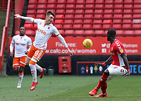 Blackpool's Chris Long clears the danger<br /> <br /> Photographer David Shipman/CameraSport<br /> <br /> The EFL Sky Bet League One - Charlton Athletic v Blackpool - Saturday 16th February 2019 - The Valley - London<br /> <br /> World Copyright © 2019 CameraSport. All rights reserved. 43 Linden Ave. Countesthorpe. Leicester. England. LE8 5PG - Tel: +44 (0) 116 277 4147 - admin@camerasport.com - www.camerasport.com