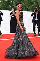 "VENICE, ITALY - AUGUST 28: Alessandra Mastronardi walks the red carpet ahead of the Opening Ceremony and the ""La Verite"" (The Truth) screening during the 76th Venice Film Festival at Sala Grande on August 28, 2019 in Venice, Italy., 2019 in Venice, Italy. (Photo by Marck Cape/Inside Foto)<br /> Venezia 28/08/2019"