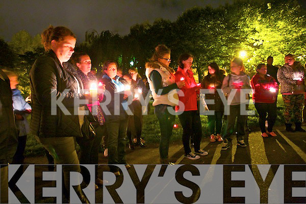 Candlelit vigil in memory of those who have died by suicide at Pearse Park on Tuesday which was World Suicide Day