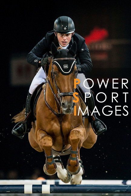 Gerco Schroder of Netherlands rides Glock's London N.O.P. in action during the Longines Grand Prix as part of the Longines Hong Kong Masters on 15 February 2015, at the Asia World Expo, outskirts Hong Kong, China. Photo by Victor Fraile / Power Sport Images