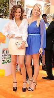 LOS ANGELES, CA - MARCH 31: Savannah Jayde and Kelli Goss arrive at the 2012 Nickelodeon Kids' Choice Awards at Galen Center on March 31, 2012 in Los Angeles, California.