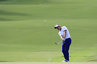 Luke Donald (ENG) chips onto the 18th green during Friday's Round 2 of the 2017 PGA Championship held at Quail Hollow Golf Club, Charlotte, North Carolina, USA. 11th August 2017.<br /> Picture: Eoin Clarke | Golffile<br /> <br /> <br /> All photos usage must carry mandatory copyright credit (&copy; Golffile | Eoin Clarke)