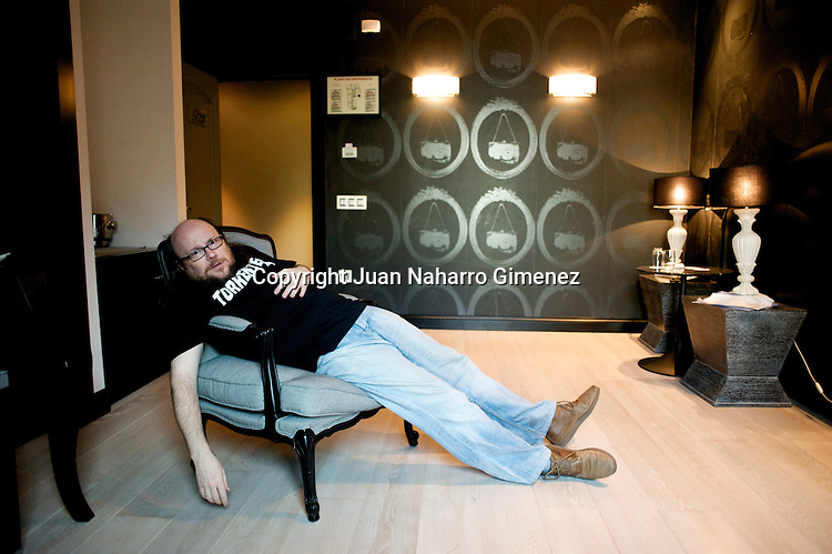 MADRID, SPAIN - MARCH 09:  Santiago segura poses for a portrait session after the presentation of his last film 'Torrente 4' at Santo Domingo Hotel on March 9, 2011 in Madrid, Spain.  (Photo by Juan Naharro Gimenez)