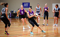 13.12.2017 Whitney Souness in action during traning at the Silver Ferns trails in Auckland. Mandatory Photo Credit ©Michael Bradley.