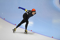 SCHAATSEN: HEERENVEEN: Thialf, 4th Masters International Speed Skating Sprint Games, 25-02-2012, Joke Wittenberg (F60) 2nd, ©foto: Martin de Jong