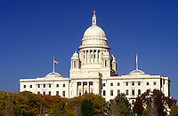 State House, Providence, RI, State Capitol, Rhode Island, The Rhode Island State House in the Capital City of Providence in the autumn.