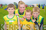 Pictured at the County uneven age intermediate and masters championship in Beaufort on Sunday were Ronan Collins, Sinead Warren, Shane Warren and Patrick Warren, Gneeveguilla.