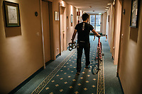 hotel-life at the Trek-Segafredo team hotel<br /> <br /> Stage 15: Valdengo &rsaquo; Bergamo (199km)<br /> 100th Giro d'Italia 2017