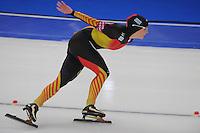 SCHAATSEN: BERLIJN: Sportforum, 07-12-2013, Essent ISU World Cup, 1500m Ladies Division A, Claudia Pechstein (GER), ©foto Martin de Jong