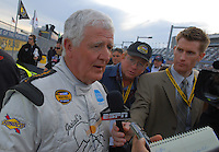 Feb 11, 2007; Daytona, FL, USA; Nascar Nextel Cup driver James Hylton (58) during qualifying for the Daytona 500 at Daytona International Speedway. Mandatory Credit: Mark J. Rebilas
