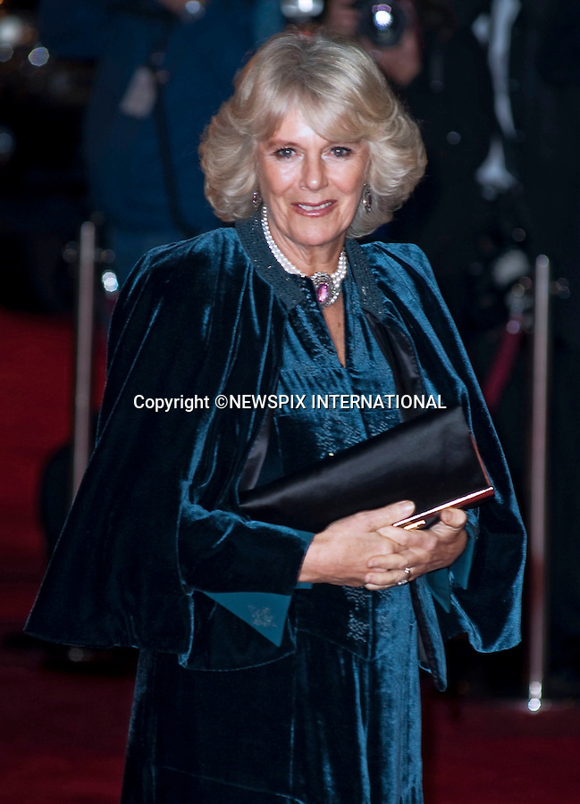 "Prince Charles and Camilla.Their Royal Highnesses The Prince of Wales and The Duchess of Conwall attend the 2009 Royal film performance and world premiere of The Lovely Bones at the Odeon Leicester Square_London, 24/11/2009.Mandatory Photo Credit: ©Dias/Newspix International..**ALL FEES PAYABLE TO: ""NEWSPIX INTERNATIONAL""**..PHOTO CREDIT MANDATORY!!: NEWSPIX INTERNATIONAL(Failure to credit will incur a surcharge of 100% of reproduction fees)..IMMEDIATE CONFIRMATION OF USAGE REQUIRED:.Newspix International, 31 Chinnery Hill, Bishop's Stortford, ENGLAND CM23 3PS.Tel:+441279 324672  ; Fax: +441279656877.Mobile:  0777568 1153.e-mail: info@newspixinternational.co.uk"