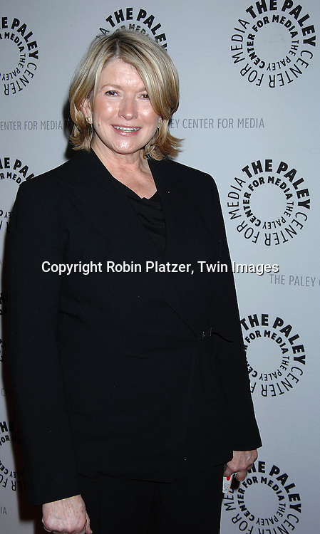 "Martha Stewart.at the Paley Center for Media celebration for Year 3 of ""She Made It: Women Creating Television and Radio"" which is an on going initiative that celebrates the achievements of women in television and radio by honoring writers, producers, directors. journalists, sportscasters and executives that have made major contributions ito the industry over the decades. The event was on December 6, 2007 at The Paley Center( formerly Museum of Television and Radio. .Robin Platzer, Twin Images"