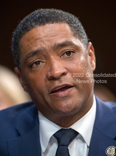 United States Representative Cedric Richmond (Democrat of Louisiana), who also serves as the Chairman, Congressional Black Caucus,  testifies against the nomination of Judge Brett Kavanaugh before the US Senate Judiciary Committee on his nomination as Associate Justice of the US Supreme Court to replace the retiring Justice Anthony Kennedy on Capitol Hill in Washington, DC on Friday, September 7, 2018.<br /> Credit: Ron Sachs / CNP