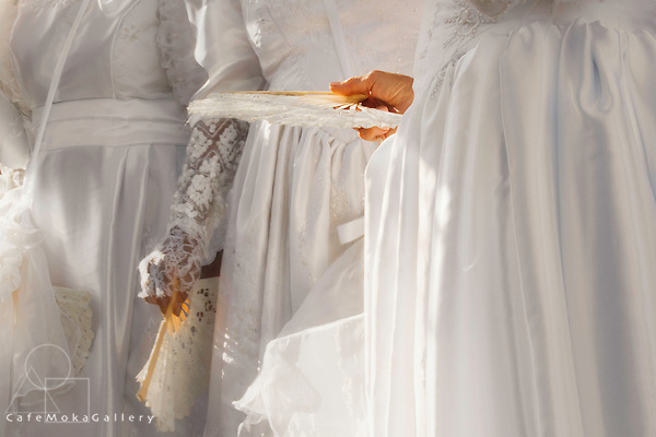 Joy - The Finale by Brian Macfarlane - details of white costume dresses ad fans