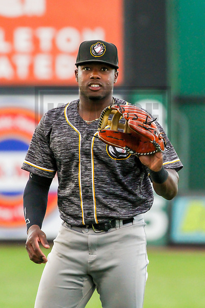 Quad Cities River Bandits outfielder Ronnie Dawson (12) during a Midwest League game against the Wisconsin Timber Rattlers on June 8, 2017 at Fox Cities Stadium in Appleton, Wisconsin.  Wisconsin defeated Quad Cities 8-3. (Brad Krause/Krause Sports Photography)