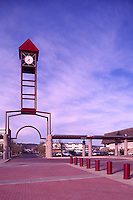 Prince George, BC, British Columbia, Canada - Clock Tower at the Civic Centre