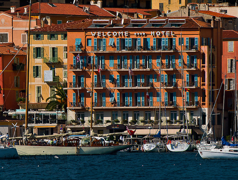 Hotel Welcome is the perfect base to travel the French and Italian Riviera, the Alpes-Maritimae district.  The hotel's management makes your stay in Villefranche one that you'll want to return to over and over.