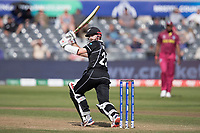 Kane Williamson (New Zealand) flies to fine leg during West Indies vs New Zealand, ICC World Cup Warm-Up Match Cricket at the Bristol County Ground on 28th May 2019