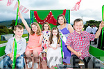 l-r  Colm Courtney Smith, Katie Smith Galvin, Ellie Mansell, Kian Courtney Smith , Katie Rafferty and Ava Mansell enjoying the Castlegregory  annual Summer parade on Sunday