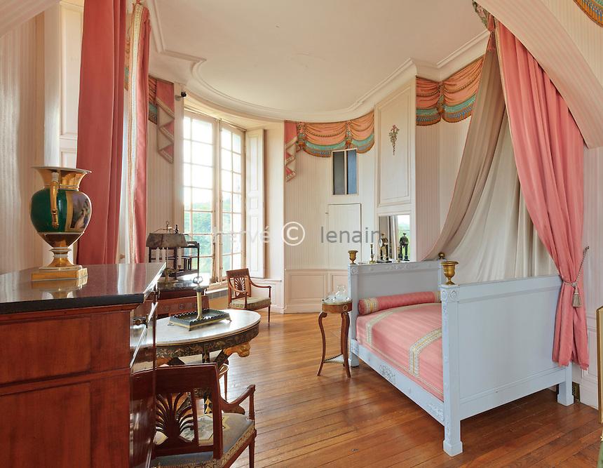France, Indre (36), Valençay, le château, la chambre de Madame de Staël // France, Indre, Valençay, the castle, the bedroom of Madame de Stael