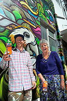 Artist Sean Duffell and Masterton mayor Lyn Patterson in Masterton, New Zealand on Thursday, 19 October 2017. Photo: Dave Lintott / lintottphoto.co.nz