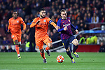 UEFA Champions League 2018/2019.<br /> Round of 16 2nd leg.<br /> FC Barcelona vs Olympique Lyonnais: 5-1.<br /> Nabil Fekir vs Arthur.