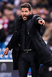 Coach Diego Simeone of Atletico de Madrid gives instructions during their 2016-17 UEFA Champions League match between Atletico de Madrid and PSV Eindhoven at the Vicente Calderón Stadium on 23 November 2016 in Madrid, Spain. Photo by Diego Gonzalez Souto / Power Sport Images