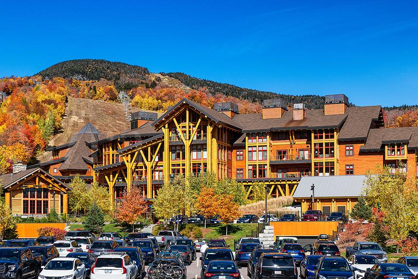 The Lodge at Spruce Peak ski resort, Vermont, USA.