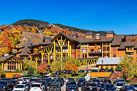 The Lodge at Spruce Peak ski resort, Vermont, USA.
