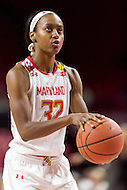 College Park, MD - DEC 6, 2016: Maryland Terrapins guard Shatori Walker-Kimbrough (32) shoots a free throw during game between Towson and Maryland at XFINITY Center in College Park, MD. The Terps defeated the Tigers 97-63. (Photo by Phil Peters/Media Images International)