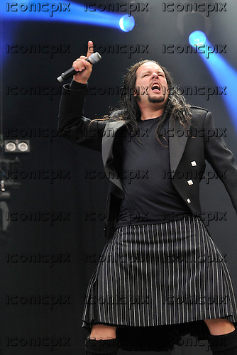 Korn - singer Jonathan Davis performing live on the Main Stage on Day One of the 2009 Download Festival, Donington Park, UK - 12 Jun 2009.  Photo credit: George Chin/IconicPix