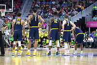 LAS VEGAS, NV - March 10, 2017: Cal Bears Men's Basketball team vs. the Oregon Ducks in the semifinals of the Pac-12 Men's Basketball Tournament.  Final Score; Cal Bears 65, Oregon Ducks 73