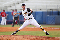 Iowa Hawkeyes pitcher Phil Keppler #3 delivers a pitch during a game against the Illinois State Redbirds at Chain of Lakes Stadium on March 11, 2012 in Winter Haven, Florida.  Illinois State defeated Iowa 10-6.  (Mike Janes/Four Seam Images)