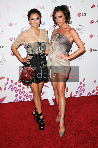 Eva Longoria Parker and Victoria Beckham<br /> at the LG &quot;Fashion Touch&quot; Party, Soho House, West Hollywood, CA. 05-24-10<br /> David Edwards/DailyCeleb.Com 818-249-4998