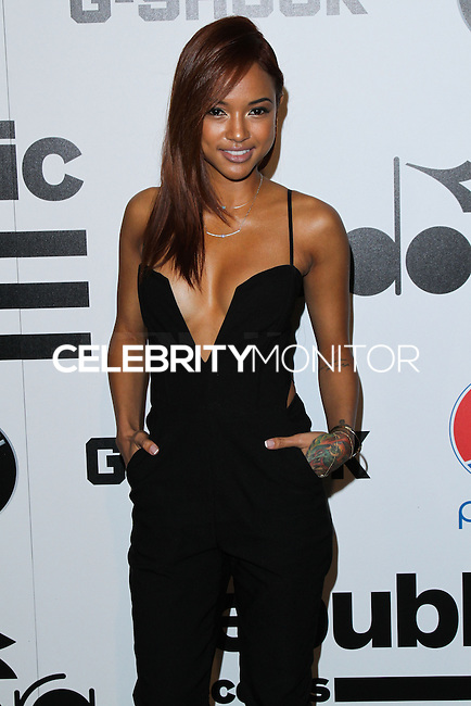 WEST HOLLYWOOD, CA - JANUARY 26: Karrueche Tran at the Republic Records 2014 GRAMMY Awards Party held at 1 OAK on January 26, 2014 in West Hollywood, California. (Photo by David Acosta/Celebrity Monitor)