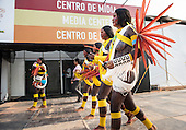 Kayapo women from Gorotire village in Para State at the International Indigenous Games in Palmas, Tocantins State, Brazil.