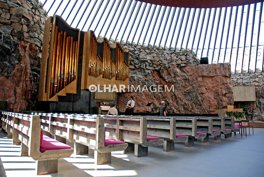 Igreja na cidade de Helsinki. Finlândia. 2007. Foto de Vinicius Romanini.